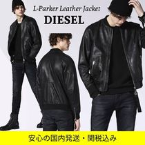 DIESEL Other Plaid Patterns Camouflage Street Style Leather MA-1