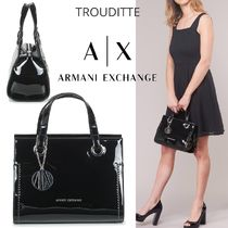 A/X Armani Exchange Monogram Casual Style Blended Fabrics 3WAY Plain Party Style
