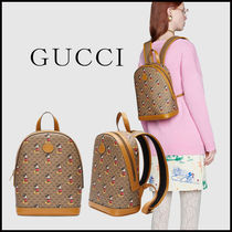 GUCCI Monogram Casual Style Unisex Canvas Blended Fabrics