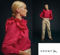 soeur Long Sleeves Party Style Elegant Style Shirts & Blouses