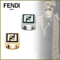 FENDI Monogram Unisex Blended Fabrics Street Style Bi-color Plain