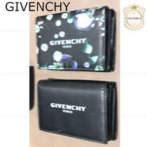 GIVENCHY Flower Patterns Leather Folding Wallets