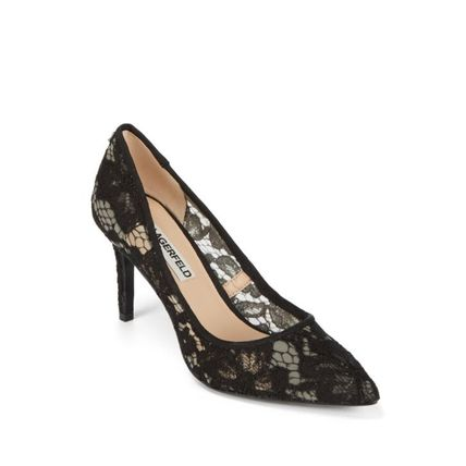 Flower Patterns Pointed Toe Pumps & Mules