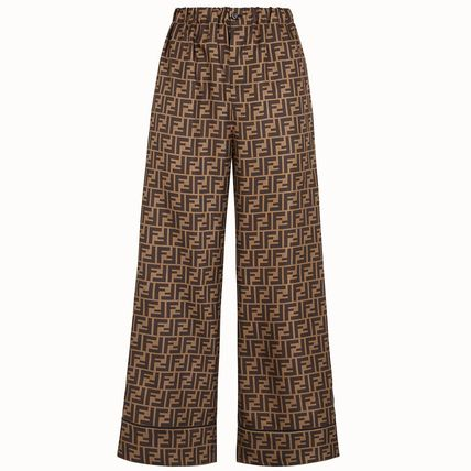FENDI Silk Cropped & Capris Pants