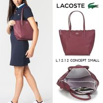 LACOSTE Casual Style Blended Fabrics A4 Plain Office Style Bold