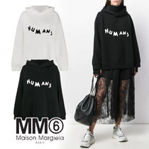 MM6 Maison Margiela Street Style Long Sleeves Cotton Medium Oversized Logo