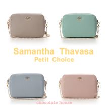 Samantha Thavasa Faux Fur Plain With Jewels Shoulder Bags