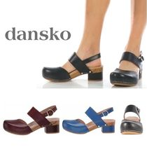 DANSKO Round Toe Rubber Sole Casual Style Plain Leather