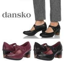 DANSKO Rubber Sole Casual Style Plain Leather Office Style