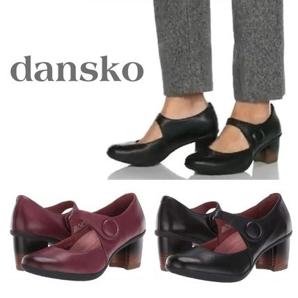 Rubber Sole Casual Style Plain Leather Office Style