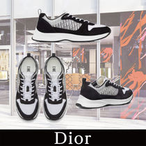 Christian Dior DIOR OBLIQUE Suede Blended Fabrics Street Style Sneakers