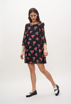 Heart Long Sleeves Party Style Office Style Elegant Style