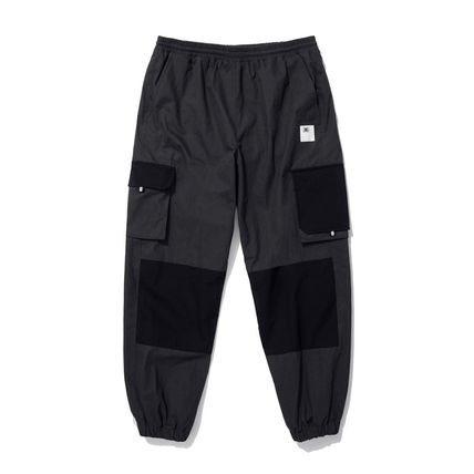 Nylon Street Style Plain Cotton Joggers & Sweatpants