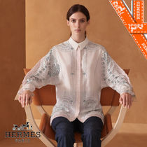 HERMES Silk Long Sleeves Medium Shirts & Blouses