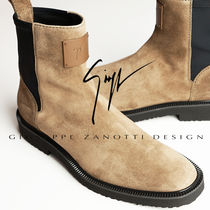 GIUSEPPE ZANOTTI Suede Leather Chelsea Boots Boots