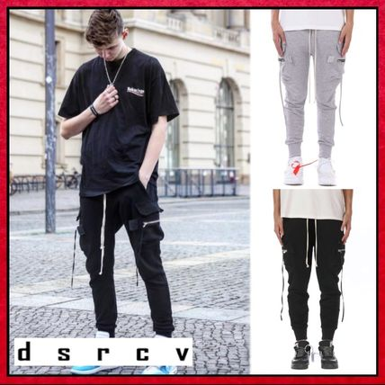 Unisex Street Style Plain Cotton Pants