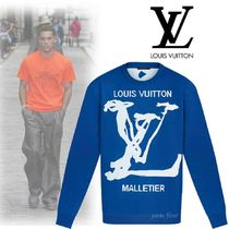 Louis Vuitton Crew Neck Long Sleeves Long Sleeve T-shirt Logo