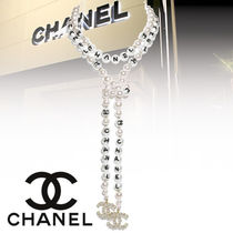 CHANEL Costume Jewelry Blended Fabrics Party Style Elegant Style