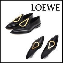 LOEWE Leather Office Style Loafer & Moccasin Shoes