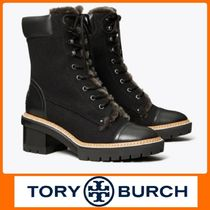 Tory Burch MILLER Rubber Sole Casual Style Leather Ankle & Booties Boots