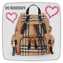 Burberry Other Check Patterns Casual Style Unisex Nylon Street Style