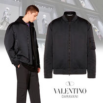 VALENTINO Nylon Plain Oversized Jackets