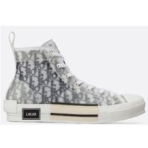 Christian Dior Blended Fabrics Logo Low-Top Sneakers