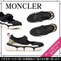 MONCLER Round Toe Rubber Sole Plain Low-Top Sneakers