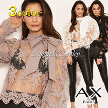 AXPARIS Long Sleeves Party Style Puff Sleeves Shirts & Blouses