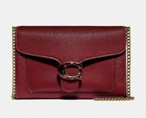 Coach Tabby Casual Style 2WAY Chain Plain Leather Party Style