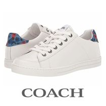 Coach Flower Patterns Round Toe Casual Style Plain