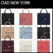 OAD NEW YORK Casual Style Plain Leather Office Style Shoulder Bags