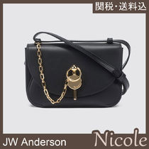 J W ANDERSON Casual Style Chain Plain Leather Party Style Elegant Style