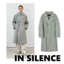 IN SILENCE Unisex Street Style Plain Trench Coats
