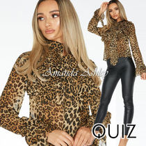 Quiz Leopard Patterns Long Sleeves Medium Party Style