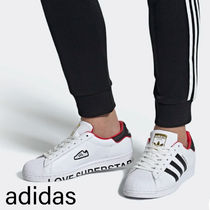 adidas SUPERSTAR Unisex Street Style Leather Sneakers