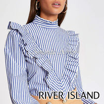 River Island Stripes Casual Style Long Sleeves Medium Party Style