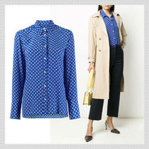 sandro Casual Style Silk Long Sleeves Office Style Shirts & Blouses