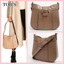 TOD'S Casual Style 2WAY Plain Leather Shoulder Bags