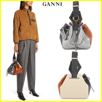 Ganni Plain Leather Handbags