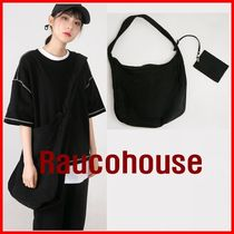Raucohouse Unisex Street Style Collaboration Oversized Shoulder Bags
