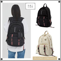 ROMANTIC CROWN Casual Style Unisex Street Style Collaboration Backpacks