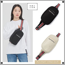 ROMANTIC CROWN Casual Style Unisex Street Style Hip Packs