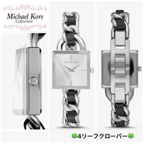 Michael Kors Blended Fabrics Square Party Style Quartz Watches Stainless