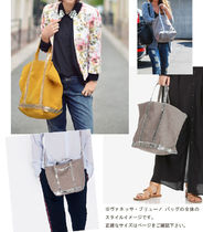 vanessabruno Casual Style Canvas Plain Totes