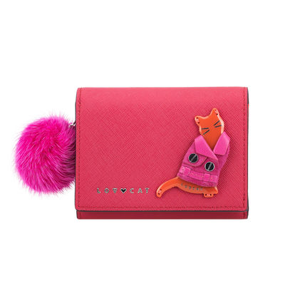 Leather Small Wallet Logo Long Wallets