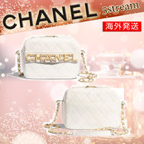 CHANEL Calfskin Chain Elegant Style Logo Camera Bag Shoulder Bags