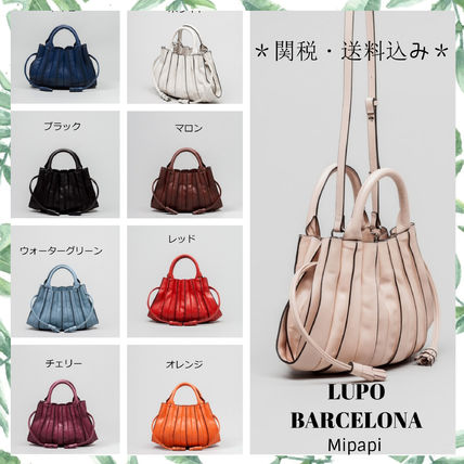 Casual Style Tassel 2WAY Plain Leather Party Style