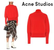 Acne Wool Nylon Plain Turtlenecks