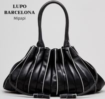 Lupo Barcelona Tassel Plain Leather Shoulder Bags